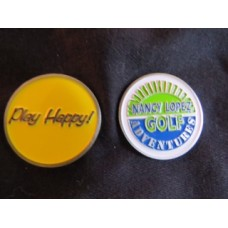 Play Happy Logo Solid Metal Ball Marker